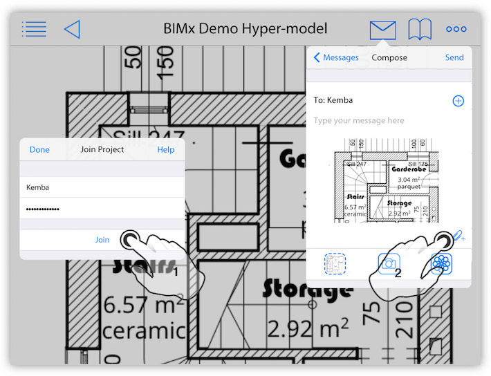 join into BIMcloud project from BIMx