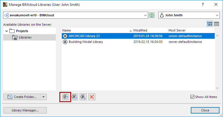 Manage BIMcloud Libraries | User Guide Page | GRAPHISOFT Help Center