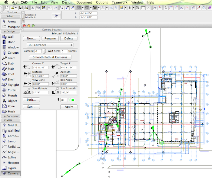 add cameras to the ARCHICAD model