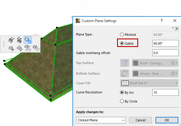 how to make a roof in archicad