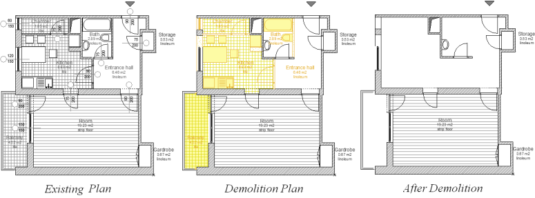 Building Demolition Drawing : Renovation help center archicad bimx bim server