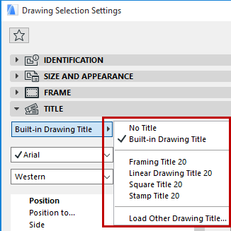 Drawing Titles | User Guide Page | GRAPHISOFT Help Center