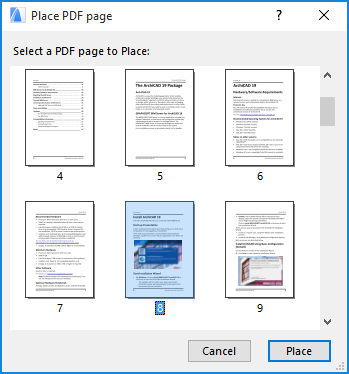 Importing PDF Files As Drawings | User Guide Page